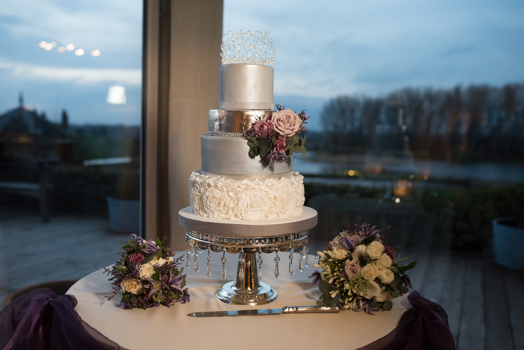 Ruffles Wedding Cake Silver GreyKeen For cakes Cambridgeshire