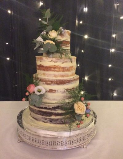 4 Tier Naked Wedding Cake Cambridgeshire