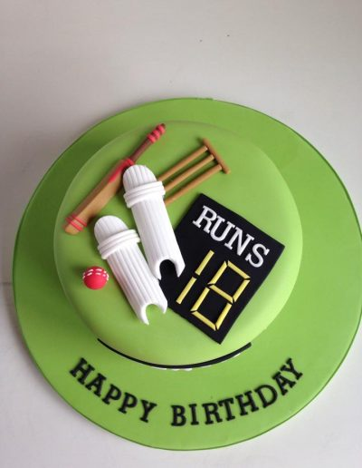 Cricket Birthday Cake Cambridgeshire
