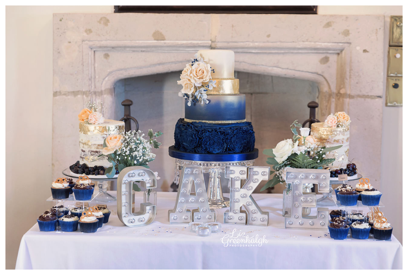 Wedding Cake Table.Wedding Dessert Table Cambridgeshire