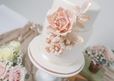 Rose Gold Blush Pink Wedding Cake Keen For Cakes Cambridgeshire