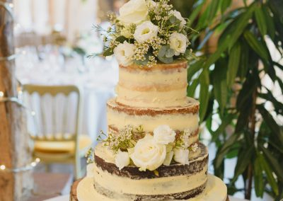 Naked Wedding Cake Fresh Flowers South Farm Keen For Cakes Cambridgeshire