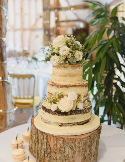 Naked Wedding Cake Fresh Flowers South Farm Keen For Cakes Cambridgeshire