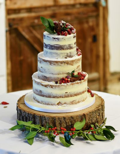 Festive Christmas Wedding Cake South Farm Keen For Cakes Cambridgeshire