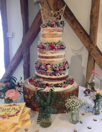 Naked Wedding Cake South Farm