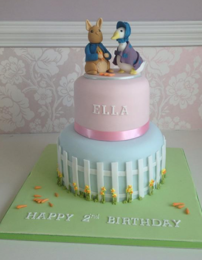 Beatrix Potter Birthday christening Cake Cambridgeshire