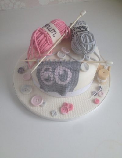 Knitting Craft Birthday Cake Cambridgeshire