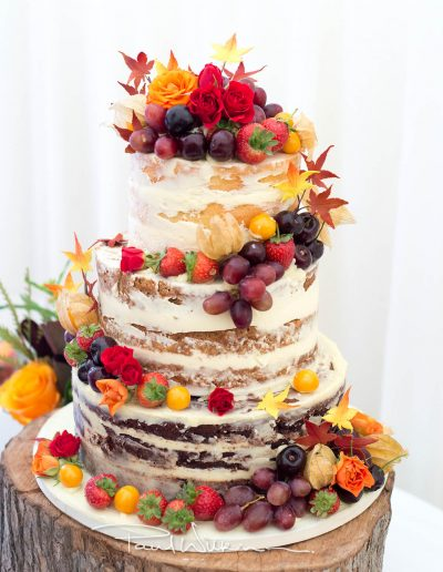 Rustic Naked Autumn Wedding Cake Keen For Cakes Cambridgeshire