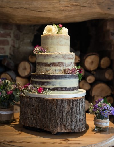 Naked Wedding Cake The Crown Broughton Keen For Cakes Cambridgeshire