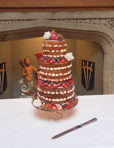 Naked Wedding Cake Hinchingbrooke Hose Keen For Cakes Cambridgeshire