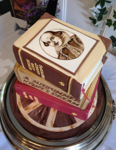 Shakespeare Books Wedding Cake Cambridgeshire