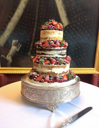 Naked Wedding Cake Sydney Sussex College Cambridge
