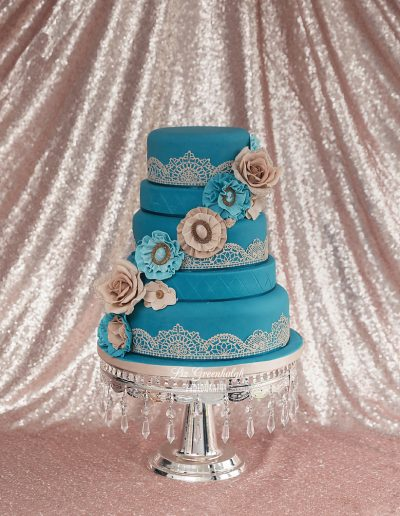 Indian Teal Wedding Cake Keen For Cakes Cambridgeshire