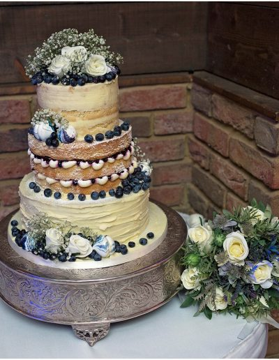 Semi Naked Wedding Cake White-Hart-Great-Yeldhamc