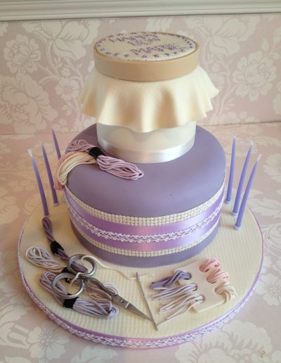 cross stictch sewing cake