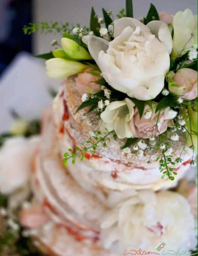 Semi Naked Wedding Cake Keen For Cakes Cambridgeshire