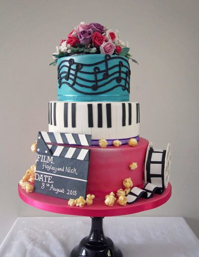 Music Piano Film Wedding Cake Cambridgeshire