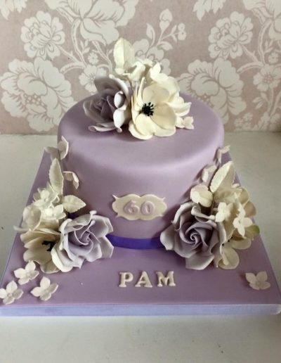 lilac flowers birthday cake cambridgeshire