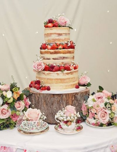 Summer Naked Wedding Cake Keen For Cakes Cambridgeshire