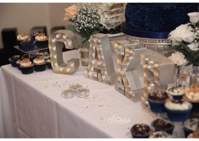 Illuminated Cake Letters Wedding Dessert Table Keen For Cakes Cambridgeshire