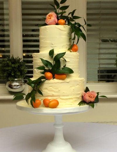 Buttercream and citrus rustic cake