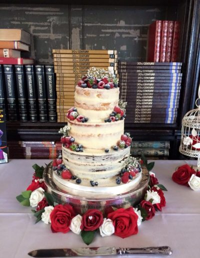 Hinchingbrooke House Semi Naked Wedding Cake