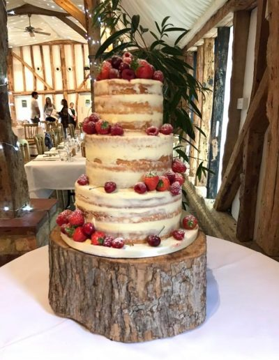 naked cake and berries