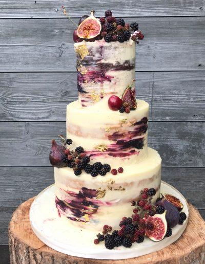 Oil Paint effect buttercream cake
