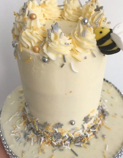 bee grey and yellow
