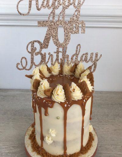 "4"" Biscoff Drip Cake"